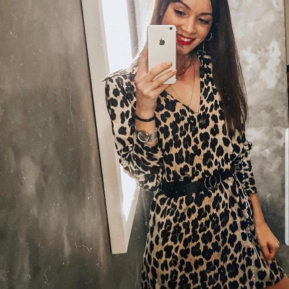425b75c6 Zara Dresses | Animal Print Shirt Dress Tunic | Poshmark